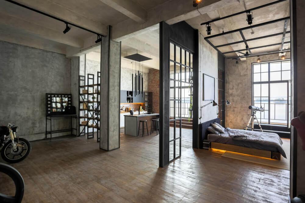 室內設計趨勢:仿鍍鈦漆塗裝工業風
