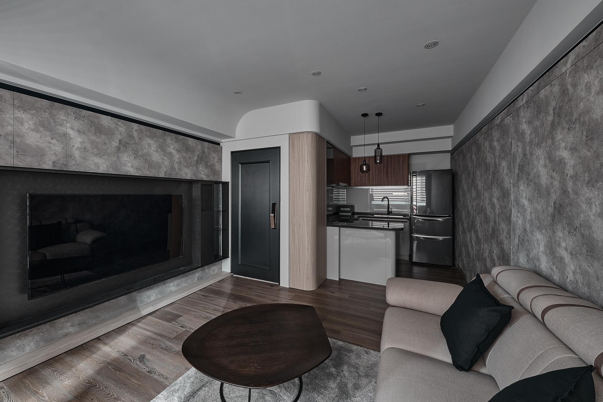 工業風裝潢客廳